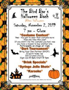 2019 Bar Halloween Party